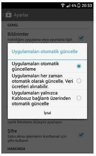 whatsapp otomatik guncelleme nasil acilir